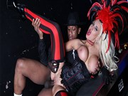 Sexy blonde Brooklyn Blue gets drilled in her costume video